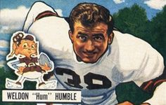 #Weldon #Humble, #American #football #lineman, on a 1951 #football #card