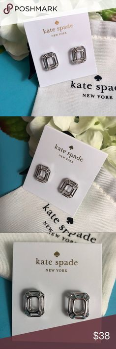 """Kate Spade """"Freeze Framed"""" silver earrings Kate Spade """"Freeze Framed"""" Silver Earrings  Brand new On original card with sticker intact Includes Kate Spade jewelry bag kate spade Jewelry Earrings"""