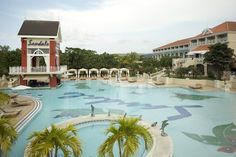 Extravagant pools at Sandals Grande Riviera