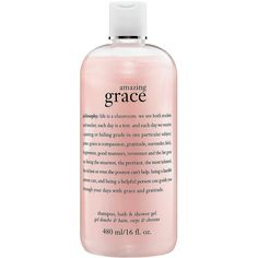 philosophy Amazing Grace Shampoo, Bath & Shower Gel ($25) ❤ liked on Polyvore featuring beauty products, bath & body products, body cleansers, fillers, beauty, makeup, pink, accessories, philosophy perfume and pink perfume