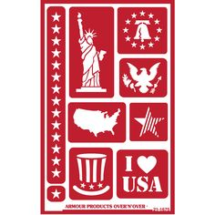 United States Design American Flag Glass Etching Stencils Free How to Etch CD