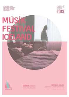 Iceland Music Festival by or shaaltiel, via Behance