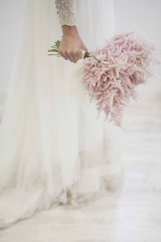Big swoon. Absolutely love this! Astilbe Flower bouquet wedding