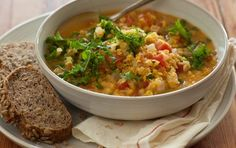 Serve this delicious soup, based on a traditional Indian dish, with your favorite whole grain bread. It's a warm and comforting bowl of flavorful lentils and vegetables.