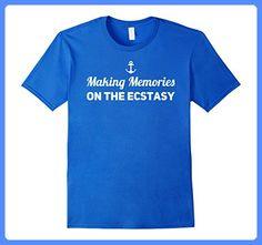 Mens Cruise Family Shirts | Cruise Ecstasy Ship Shirt Large Royal Blue