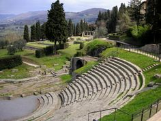 View of the Roman theatre in #Fiesole . This city is located in the #Florence, a province of #tuscany ,  Italy .