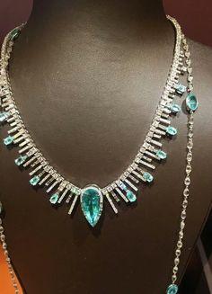 Coomi ~ Paraiba tourmaline and diamond necklace