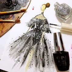 Des dessins de mode avec du vernis à ongle par Chan Clayrene Dessein de dessin
