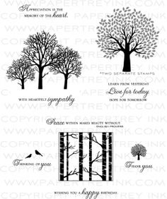 Through the Trees Stamp Set           Papertrey ink stamps                    $24.00