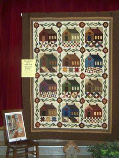Pezze pazze: La coperta con le case
