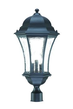 Shop for Acclaim Lighting Waverly Collection Post-Mount Outdoor Matte Black Light Fixture. Get free delivery On EVERYTHING* Overstock - Your Online Outdoor Lighting Store! Traditional Lanterns, Traditional Lighting, Lantern Light Fixture, Light Fixtures, Exterior Lighting, Outdoor Lighting, Outdoor Lantern, Lantern Designs, Lantern Post