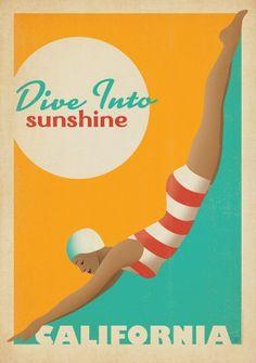 Retro poster - California