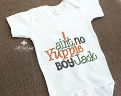 Boys Duck Dynasty Baby  Boys Clothing - Bodysuit - Embroidered - Si Sayings - Baby Shower Gifts - Yuppie Boy- Jack