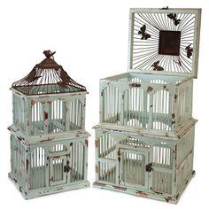 Garden Home Wedding Decor Metal Birdcage In Grey Wash Effect Hedwig Cage