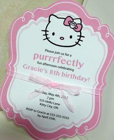 Pretty Hello Kitty Invitation.
