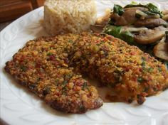 Tortilla Crusted Tilapia- I have looked for this recipe everywhere- my husband's favorite!