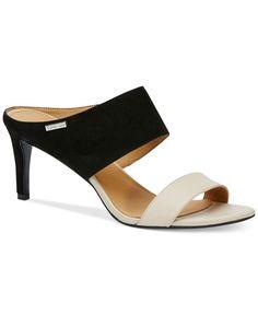 53c31ca9fc27 Calvin Klein Women s Cecily Wide-Strap Sandals Dress Sandals