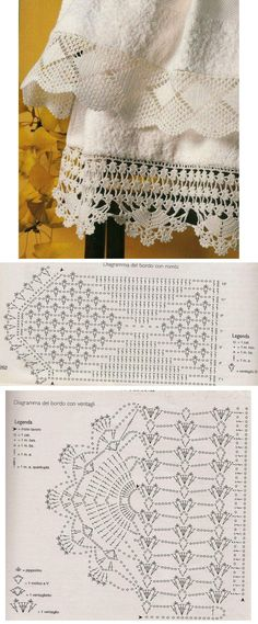 Beautiful lace to crochet: Traditional Creations blog with many charts. Two wide edgings with their charts: lozenges & shells; fans.