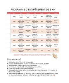programme course 5KM en 8 semaines pour débutants