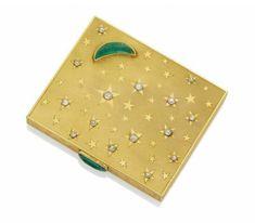 Poudrier Etoile émeraudes et diamants, par Suzanne Belperron.Photo Christies Image Ltd 2013
