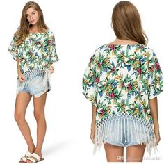 2015 Sexy Women Summer Ethnic Floral Tassel Loose Casual Crop Top T-shirt Blouse Pluse Size Loose Tops from Tfdmarket,$11.1 | DHgate.com