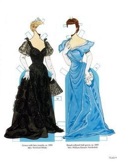 newport fashions of the gilded age paperdolls - Google Search