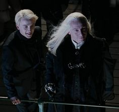 Lucius and Draco Malfoy 1994 Quidditch World Cup