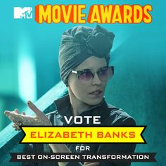 No one knows style better than Effie Trinket! Vote Elizabeth Banks for Best On-Screen Transformation at http://hungrgam.es/MovieAwards