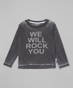 Look at this Silly Souls Black & Gray 'We Will Rock You' Tee - Infant, Toddler & Kids on #zulily today!