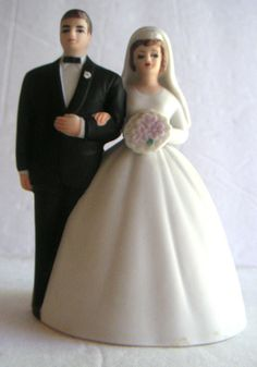 Vintage Wedding Bell/ Cake Topper  Wedding by QVintage on Etsy, $30.00