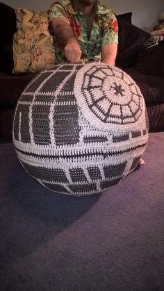 Crochet Deathstar   •  Make an object plushie