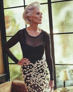 Maye Musk, at Bar Marmont, in Los Angeles. Musk wears a bodysuit and bra by Maye Musk, Beauty, Outfits, Style, Hair, Fashion, Hair Styles, Celebrities, Ageless Beauty