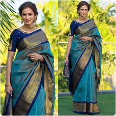 Blue Silk Saree, Soft Silk Sarees, Latest Silk Sarees, White Saree, Cotton Saree, Karen Willis Holmes, Sonakshi Sinha, Elie Saab, Silk Saree Kanchipuram