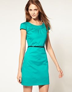 Oasis Bright Shift Dress... love this color
