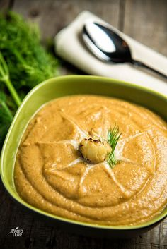 Roasted Cauliflower And Sweet Potato Soup