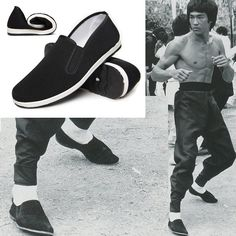 Bruce Lee classic Chinese kung fu slippers cloth shoes Wing Chun martial arts tai chi shoes Traditional comfortable cotton shoes