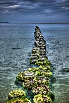 Jetty at the isle of Rügen in the Baltic Sea