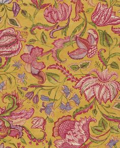 Boho Chic 5293 JF Fabrics Wallpaper Wallpaper 5293 JF Fabrics Gold Greens Pinks Purples Floral & Plants Wallpaper Jacobean Floral Wallpaper Metallic Wallpaper Textured Wallpaper, Vinyl, Easy to clean , Easy to wash, Easy to strip