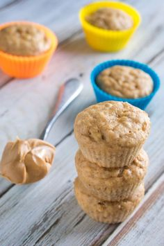 Healthy Peanut Butter Banana Muffins Recipe - Weight Watchers 3.5 points!