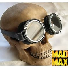 Mad Max Steampunk, Post Apocalyptic, Survival Military Style Riding Goggles