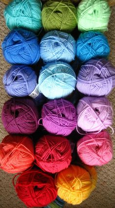 "This is my new stash--when the mailman delivers it next week..  Can't wait!!  Going to make ""Lucy's Granny Stripe"".."
