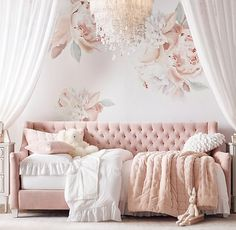 Boy Names Discover Grand Peony Wall Decal Set - Petal Girls Daybed Room, Room Design, Decor, Bedroom Decor, Daybed Room, Toddler Girl Room, Baby Girl Room, Toddler Bedrooms, Room