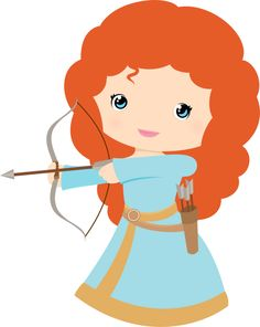 Free Princess Merida Brave Clip Art - Princesses & Tiaras ~ Princess Party Ideas, Princess Themed Events, Princess Party Inspiration & More