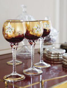 Copas de cristal de Murano.