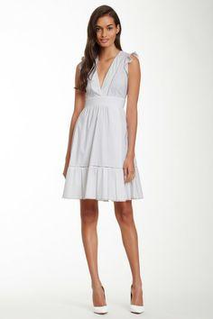 V-Neck Full Skirt Dress by MSA Haute Couture Inc. on @HauteLook