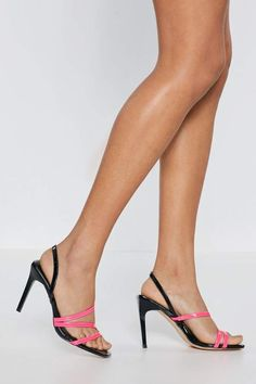 2ca4f334607 Nasty Gal A Neon Light Touch Strappy Heels