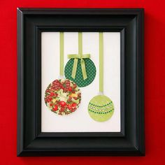 Christmas Card Ornament Art  Repurpose last year's cards as Christmas art. Inexpensive to craft, the ornamental design gets even thriftier when you size it to fit a frame you already own.
