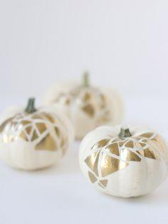 gold geo pumpkins