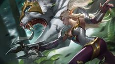 View an image titled 'Irithel Art' in our Mobile Legends: Bang Bang art gallery featuring official character designs, concept art, and promo pictures. Bang Bang, Fantasy Characters, Female Characters, Manga Characters, Moba Legends, Mobile Legend Wallpaper, Hd Wallpaper, The Legend Of Heroes, Game Character Design