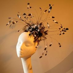 """Haywire fascinator - £95 -- """"appropriate for a glamorous mother of the bride."""""""